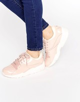 Puma R698 Sneakers In Patent Nude