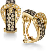 LeVian Le Vian Chocolatier® Diamond Belt Buckle Hoop Earrings (1 ct. t.w.) in 14k Gold