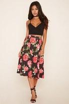 Forever 21 FOREVER 21+ Pleated Floral Midi Skirt