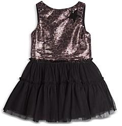Pippa & Julie Girls' Leopard Sequin Ruffle Skirt Dress - Baby
