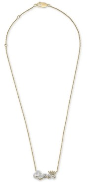 "Wrapped Diamond ""Queen"" 20"" Pendant Necklace (1/6 ct. t.w.) in 14k Gold, Created for Macy's"