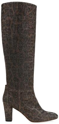 Sarah Jessica Parker Studio Leopard-Print Glitter Boots