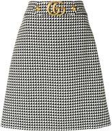 Gucci GG logo A-line skirt - women - Polyamide/Wool - 40