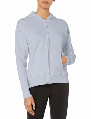 Hanes Womens ComfortSoft EcoSmart Women's Full-Zip Hoodie Sweatshirt Light Steel x Large