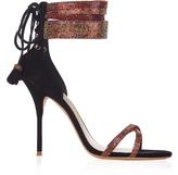 Sophia Webster Adeline crystal and suede sandals