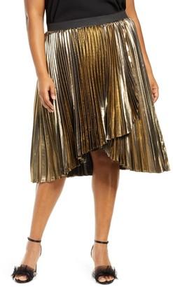 Halogen X Atlantic-Pacific Waterfall Lame Skirt