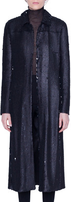 Akris Sequined Ankle-Length Duster Coat
