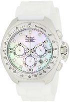 Freelook Women's HA6303-9 Aquamarina Iii White Band White Mother-Of-Pearl Dial and Swarovski Indexes Watch