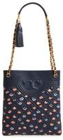 Tory Burch Fleming Swingpack Leather Crossbody Bag - Blue