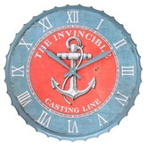 Infinity Instruments Anchor Clock - Blue/ Red