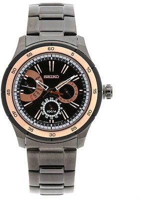 Seiko Men's SNT025 Anodized Black Stainless Steel Case and Bracelet Watch