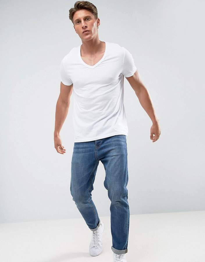 Asos T-Shirt With Deep V Neck