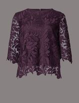 Marks and Spencer Floral Lace Half Sleeve Blouse