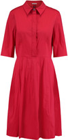 Oscar de la Renta Cotton-blend poplin shirt dress