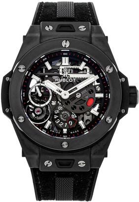 Hublot Black Ceramic Big Bang Meca-10 Black Magic 414.CI.1123.RX Men's Wristwatch 45 MM
