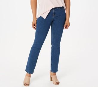 NYDJ Sheri Slim 5-Pocket Jeans - Blue Batik