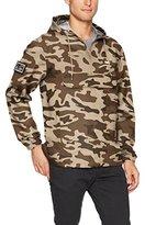 Obey Men's Crosstown Windbreaker Pullover Hooded Anorak Jacket