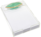 Mapleton Drive Rectangular Note Tray with Agate