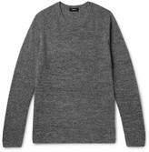 Theory - Enzo Ribbed Mélange Cashmere Sweater