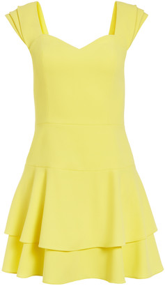 Alice + Olivia Brinda Pleated Sleeve Mini Dress