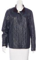 Balenciaga Linen-Blend Quilted Jacket