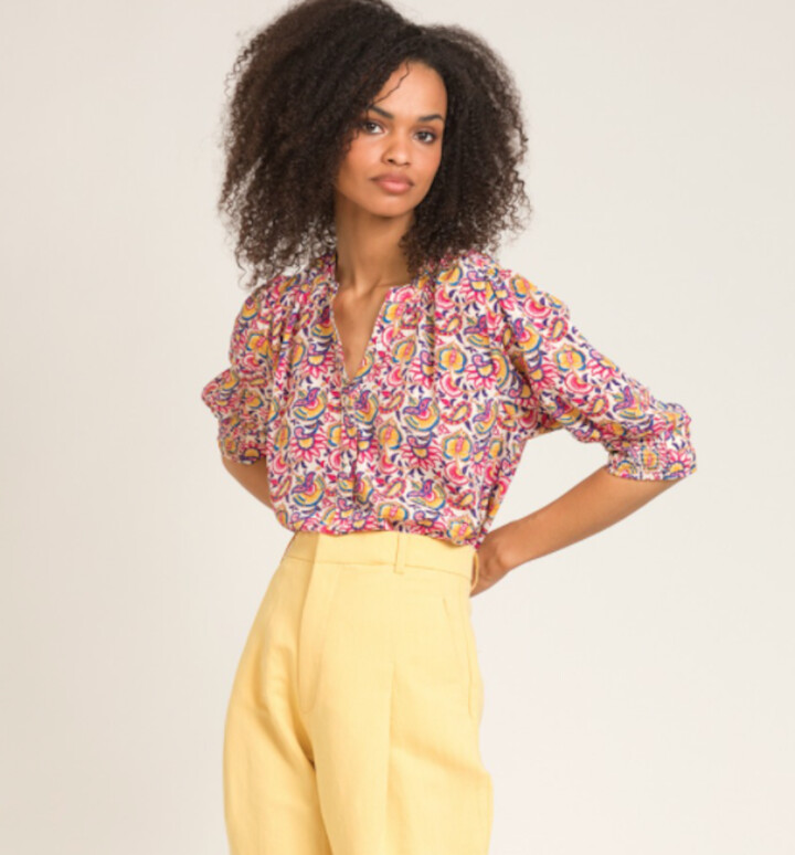 Thumbnail for your product : Margaux Vibrant Print Blouse - 12-14