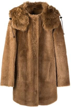 Yves Salomon Hooded Fur Jacket