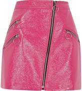 River Island Womens Pink vinyl hoop zip mini skirt