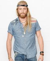 Denim & Supply Ralph Lauren Men's American Flag Yoke Western Shirt