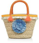 Milly Pom Pom Small Straw Tote