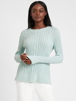 Banana Republic Petite Chunky Cable-Knit Sweater