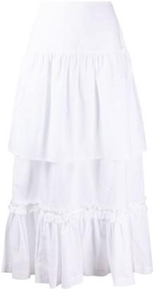 MM6 MAISON MARGIELA Tiered Midi Skirt