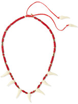 Aurelie Bidermann Squco Gold-plated, Coral And Resin Necklace - one size