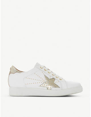 Dune Edris studded star faux-leather trainers