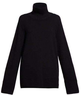 The Row Vaya Roll-neck Sweater - Womens - Black