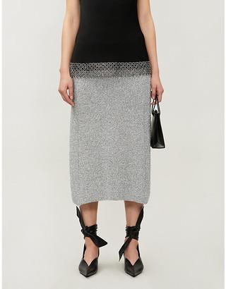 Balenciaga VESTIAIRE metallic-knit midi skirt