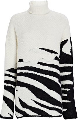 GAUGE81 Aranos Zebra Jacquard Turtleneck Sweater