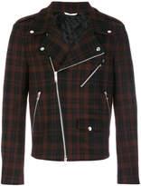 Valentino checked biker jacket