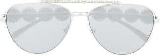Versace Oversized Aviator Sunglasses