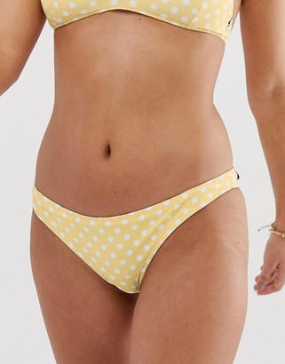 rhythm Sienna Cheeky reversible bikini bottom in floral and polka dot