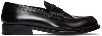 Giorgio Armani Black Penny Loafers