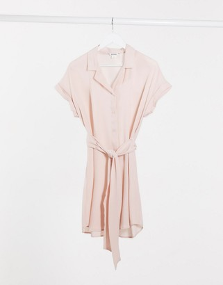Monki shirt dress in cream