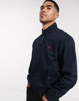 Polo Ralph Lauren Baracuda player logo cotton harrington jacket in navy