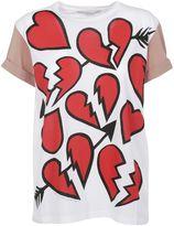 Stella McCartney Pure White Broken Hearts Print T-shirt