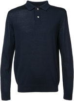 A.P.C. button collar jumper - men - Silk/Merino - S