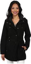 Nautica Hooded Zip Front Layered Jacket
