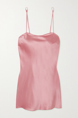 I.D. Sarrieri Lombard Street Silk-blend Satin Chemise - Pink