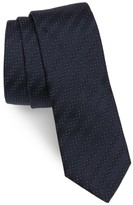 HUGO Men's Boss Stripe Silk Skinny Tie