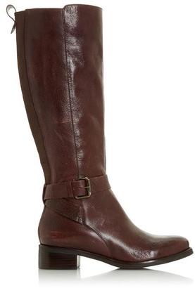 Bertie Taykonie Side Buckle Low Heel High Leg Boots