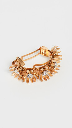 Elizabeth Cole Golden Floral Ponytail Holder